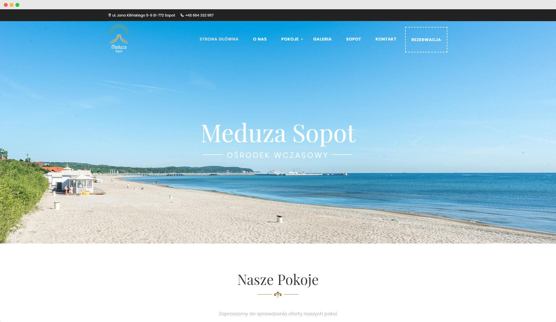 Meduza Sopot - widok na komputerze